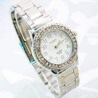 Hot selling Rhinestone quartz women's business Wristwatches fine stainless steel watch gift watch free shipping