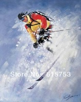 Hand-painted ski theme decorations of good quality oil painting oil painting