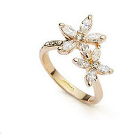 18K Rose/White Gold Plated Austrian Crystals Jewelry Full Sizes Wholesale Fashion Design Engagement Finger Rings 1731924
