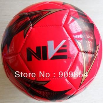 Promotional size 5 machine stitched PVC NIVE soccer ball/football. 100pcs/lot.
