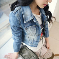 2013 new arrival style fashion spring women's sweet princess slim denim outerwear short jacket ZT_13066 , free shipping