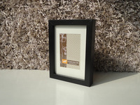 IKEA Black Picture Wood frame lot 2 4x6 and mat for 3x4 photo
