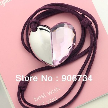 Free Shipping Crystal Heart  Shape USB Flash Memory Pen Drive Stick 4GB 8GB 16GB