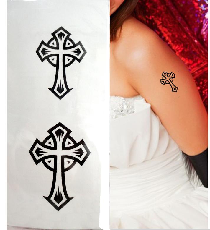 Vintage Cross Tattoo 66
