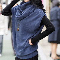 2012 women's autumn fashion heap turtleneck loose long design batwing sleeve vintage sweater