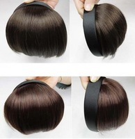 Free shipping Hoop style headband qi bangs hair extension piece wig fake fringe tape hair bands qi bangs
