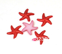 18MM Flatback Resin Cabochon Red Starfish for Cell Phone Case DIY Handmade Decoration Accessory 200PCS