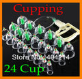 1pcs/lot Chinese Medical cupping 24 Cups Set Kit+8 magnets Point Health Massage Acupuncture Cupping.