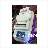 Free Shipping  Intelligent LCD universal mobile phone battery charger for all+EU PLUG Free Shipping