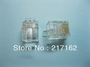 400 pcs RJ11 6P6C Modular Plug Telephone Connector  HOT Sale