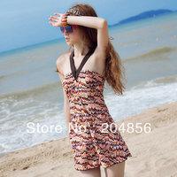 free shipping fashion swimwear bikini swimsuit skirt one piece slim hot spring swimsuit swimwear female