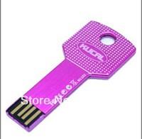 free shipping Eight color Waterproof 4GB 8GB 16GB 32GB Metal Key USB 2.0 flash memory drive usb stick pen drive MOQ:1pcs+box