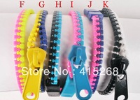 Mix Colors  Zipper Bracelets Bangles Stylish Zipper Bracelets Mini 120   pcs/lot  (Each color will be 20 pcs)Free Shipping