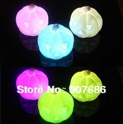 7-color Changing Pumpkin LED Night Light Lamp Halloween Party Xmas Gift New Free Shipping #3589(China (Mainland))