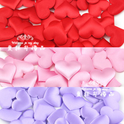 Free shipping &200PCS 3 Color Heart Design Silk Rose Petals Wedding Party New Wholesale Wedding party special(China (Mainland))