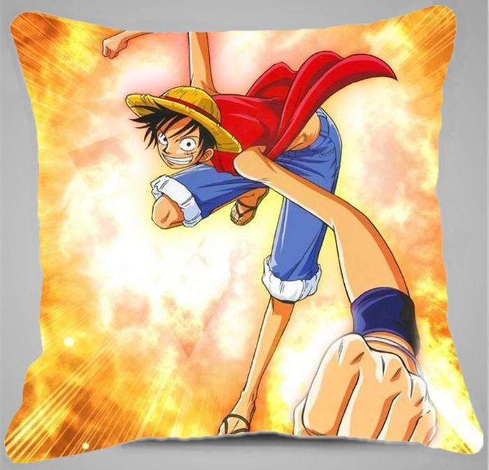 Japanese Animation One Piece logo cartoon Luffy hugging pillow 38*38cm cushion free shipping inventive gift(China (Mainland))