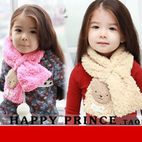 Autumn and winter thermal children's clothing accessories plush bear child muffler scarf child plush scarf girl scarf