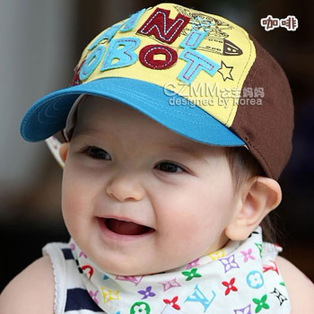 LOWEST  PROMOTION new kids toys Fashion baby hat child hat robot child baseball cap summer baby hat sunbonnet