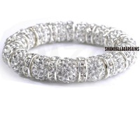 Vintage!Big Promotion! Most Popular Design U3 10mm Crystal Beads Shamballa Bracelet.Wonderful Free Shipping New Style Jewelry .