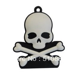 Retail Genuine 4G/8G/16G/32G USB Memory Stick Flash Drive plastic pirate skull head cartoon silicone FREESHIPPING