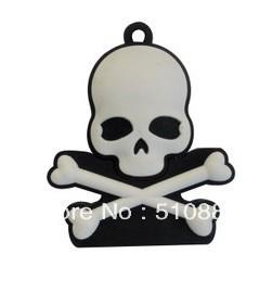 Retail Genuine 4G/8G/16G/32G USB Memory Stick Flash Drive plastic pirate skull head cartoon silicone FREESHIPPING