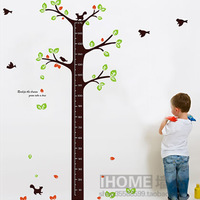 Free shipping  I home Height wall stickers cartoon child real bedroom wall height sticker  AY843