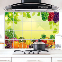 Wall stickers fruit aluminum smoke tile greaseproof paper d019 plus size paragraph