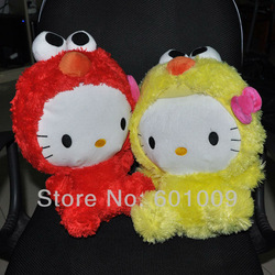 "Free Shipping EMS 30/Lot New 2 Colours Hello Kitty x Sesame Street Plush - 12"" Kitty Elmo Wholesale(China (Mainland))"