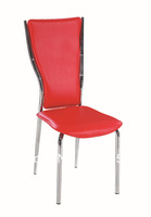 soft leather chair ,chromed plated ,metal frame ,KD ,C056