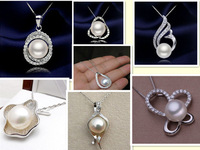 S925 Silver 10-12MM Super Big Size Genuine Natural Freshwater Pearl Pendant Fashion Jewelry with High Quality, Charm Jewellery