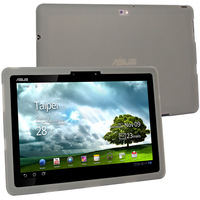 Silicone Skin Case for Asus Transformer Prime TF201 / TF 201, Smoke - Free Shipping