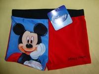 free shipping kids boys swim shorts swim trunks  red