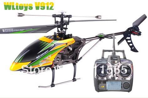 WLtoys V912 2.4G 4ch rc helicopter v911 upgrade single propeller big 52cm radio control model(China (Mainland))