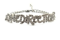 Iced Out One Direction  Adjustable Link Bracelet