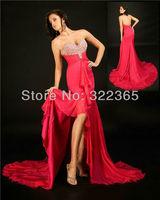2013 Hot Sale Sheath Elegant Sheath Sweetheart Chapel Train Chiffion with Beading Prom / Evening Dresses 20120838