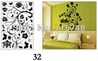 Free shipping:1Set=3.99USD Iris japonica sticker hot sale printed DIY decoration fashion wall sticker