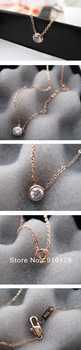star favorable titanium steel pendant necklace 14K rose gold plating stainless steel jewelry G4FEA84