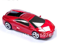 fashion Lamborghini Race Car model Portable mini speaker stereo TF Card/USB/FM,50pcs DHL free shipping