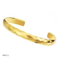 Men women wedding party 18k gold plated  tungsten steel hand ring bracelet bangles wh893