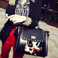 Cat bag 2012 national trend rivet a30 briefcase shoulder bag handbag women's handbag m16-045