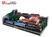 CubicFun 3D puzzle model GERMAN RURALRAILWAY STATION 178 pcs educational diy toy free air mail