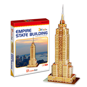 CubicFun 3D puzzle MINI EMPIRE STATE BUILDING educational diy toy model free air mail(China (Mainland))