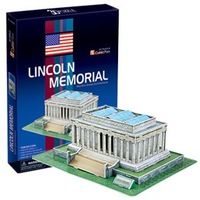 CubicFun 3D puzzle LINCOLN MEMORIAL educationa diy toy model free air mail