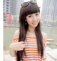 Hot sale Female wig long straight hair fashion sweet elegant ol high temperature wire