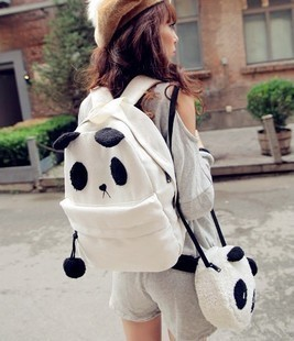 2013 spring cartoon picture package backpack inclined bag student bag female canvas bag(China (Mainland))