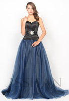 12P037 Strapless Sweetheart Ruched Tunic A-Line Organza Elegant Gorgeous Luxury Unique Prom Evening Dress Ball Gown Dresses