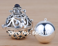 H25-20-D3 Hot Sale Mexico bola Pendant Jewelry 1PC Fashion 925 Silver Cage Silver Harmony ball Angel Chime Pendant