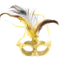 Stylish Peacock Feather Glitter Eye Mask for Halloween LUH056
