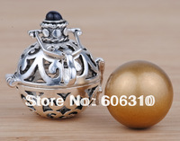 H25-20-D2 Hot Sale Mexico bola Pendant Jewelry 1PC Fashion 925 Silver Cage Gold Harmony ball Angel Chime Pendant