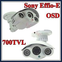 1/3 Sony CCD Effio-E 700TVL Outdoor Long Range Security CCTV Array Camera 8mm outdoor Surveillance camera